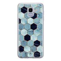 Casimoda Samsung Galaxy J6 (2018) siliconen hoesje - Blue cubes