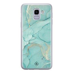 Casimoda Samsung Galaxy J6 (2018) siliconen hoesje - Touch of mint
