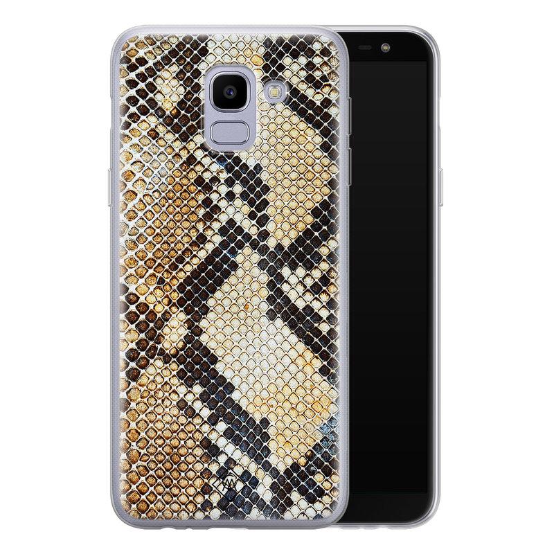 Casimoda Samsung Galaxy J6 (2018) siliconen hoesje - Golden snake