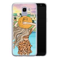Casimoda Samsung Galaxy J6 (2018) siliconen hoesje - Sunset girl