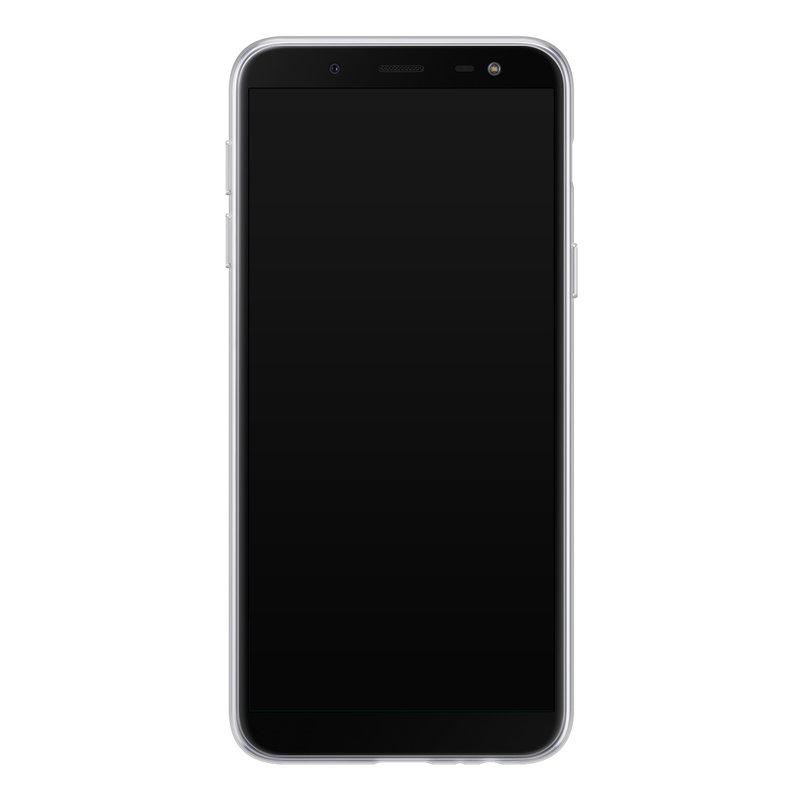 Casimoda Samsung Galaxy J6 (2018) siliconen telefoonhoesje - Parelmoer marmer