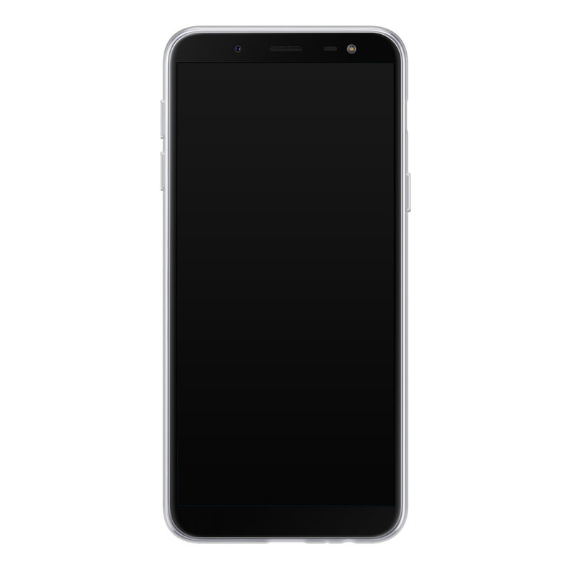 Casimoda Samsung Galaxy J6 (2018) siliconen hoesje - Luipaard geel