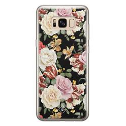 Casimoda Samsung Galaxy S8 siliconen hoesje - Flowerpower