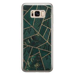 Casimoda Samsung Galaxy S8 siliconen hoesje - Abstract groen