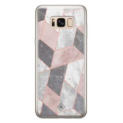 Casimoda Samsung Galaxy S8 siliconen hoesje - Stone grid