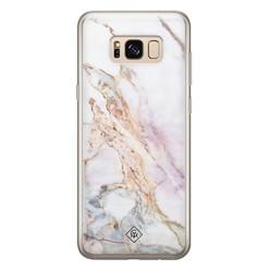 Casimoda Samsung Galaxy S8 siliconen hoesje - Parelmoer marmer