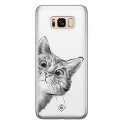 Casimoda Samsung Galaxy S8 siliconen hoesje - Peekaboo