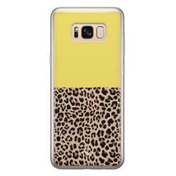 Casimoda Samsung Galaxy S8 siliconen hoesje - Luipaard geel