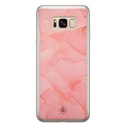 Casimoda Samsung Galaxy S8 siliconen hoesje - Marmer roze