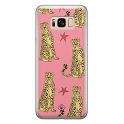 Casimoda Samsung Galaxy S8 siliconen hoesje - The pink leopard