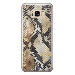 Casimoda Samsung Galaxy S8 siliconen hoesje - Golden snake