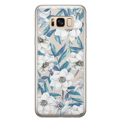Casimoda Samsung Galaxy S8 siliconen hoesje - Touch of flowers