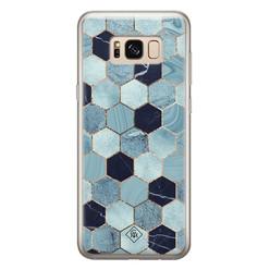 Casimoda Samsung Galaxy S8 siliconen hoesje - Blue cubes