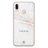 Casimoda Huawei P20 Lite siliconen telefoonhoesje - C'est la vie
