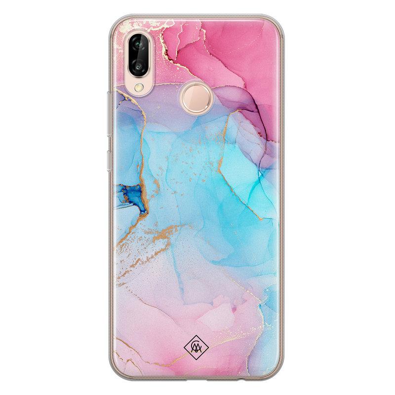 Casimoda Huawei P20 Lite siliconen hoesje - Marble colorbomb