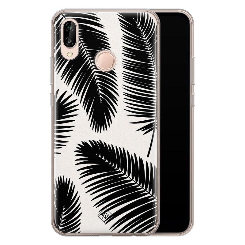 Casimoda Huawei P20 Lite siliconen telefoonhoesje - Palm leaves silhouette