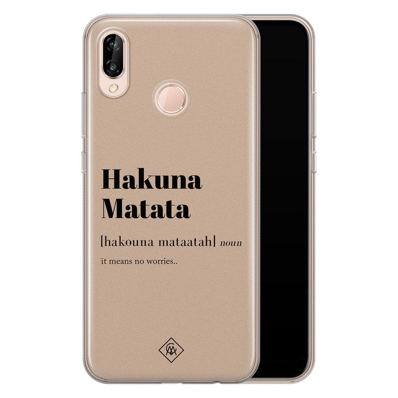 Casimoda Huawei P20 Lite siliconen hoesje - Hakuna matata