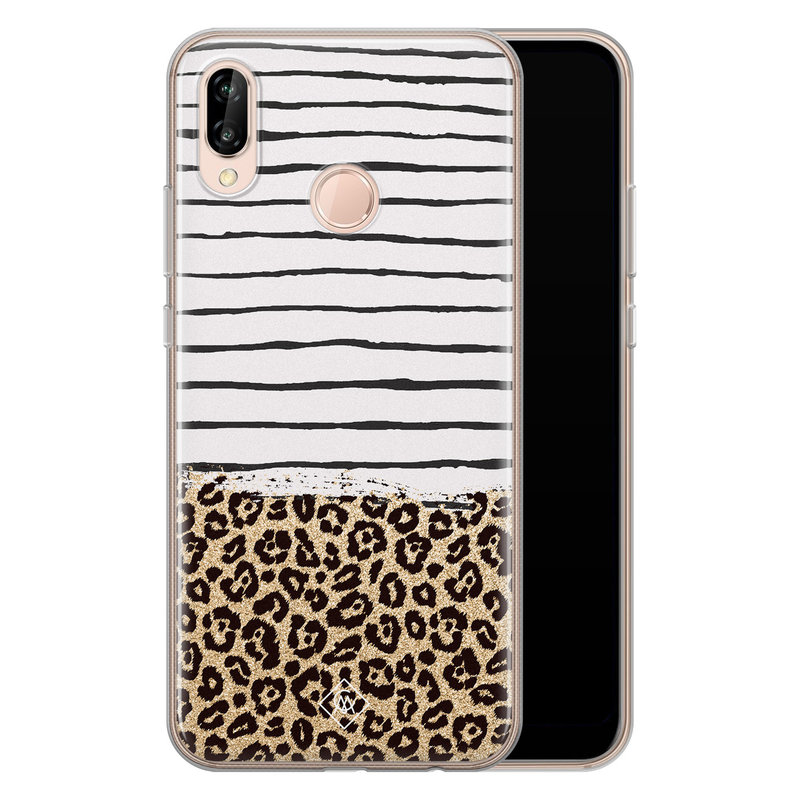 Casimoda Huawei P20 Lite siliconen telefoonhoesje - Leopard lines