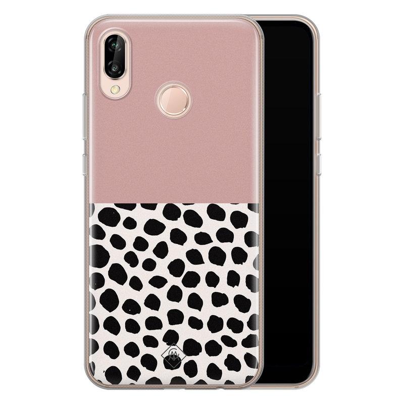 Casimoda Huawei P20 Lite siliconen hoesje - Pink dots