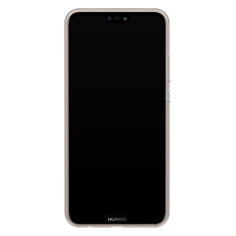 Casimoda Huawei P20 Lite siliconen telefoonhoesje - Luipaard grijs