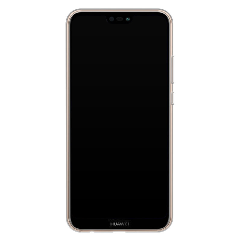 Casimoda Huawei P20 Lite siliconen telefoonhoesje - Blah blah blah