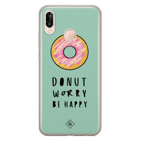 Casimoda Huawei P20 Lite siliconen hoesje - Donut worry