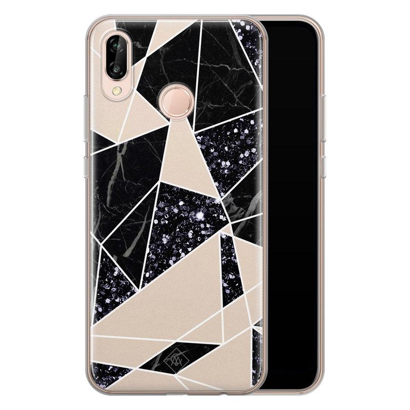 Casimoda Huawei P20 Lite siliconen telefoonhoesje - Abstract painted