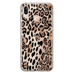 Casimoda Huawei P20 Lite siliconen hoesje - Golden wildcat
