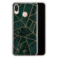 Casimoda Huawei P20 Lite siliconen hoesje - Abstract groen