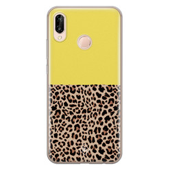 Casimoda Huawei P20 Lite siliconen hoesje - Luipaard geel