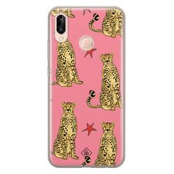 Casimoda Huawei P20 Lite siliconen hoesje - The pink leopard