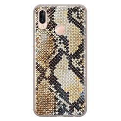 Casimoda Huawei P20 Lite siliconen hoesje - Golden snake