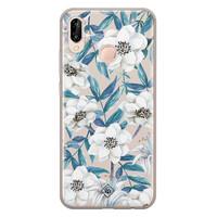 Casimoda Huawei P20 Lite siliconen telefoonhoesje - Touch of flowers