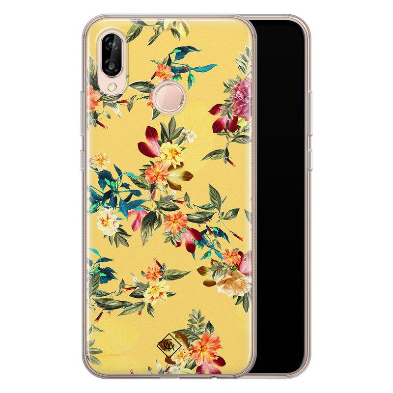 Casimoda Huawei P20 Lite siliconen hoesje - Floral days