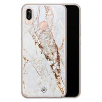 Casimoda Huawei P20 Lite siliconen hoesje - Marmer goud