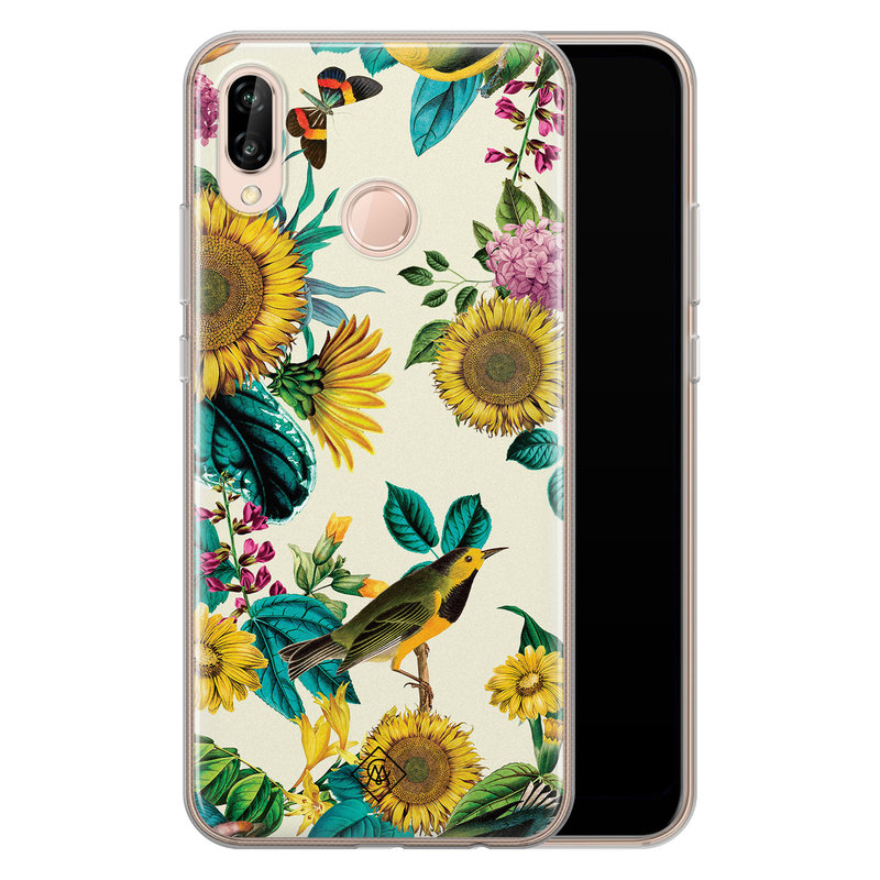 Casimoda Huawei P20 Lite siliconen hoesje - Sunflowers