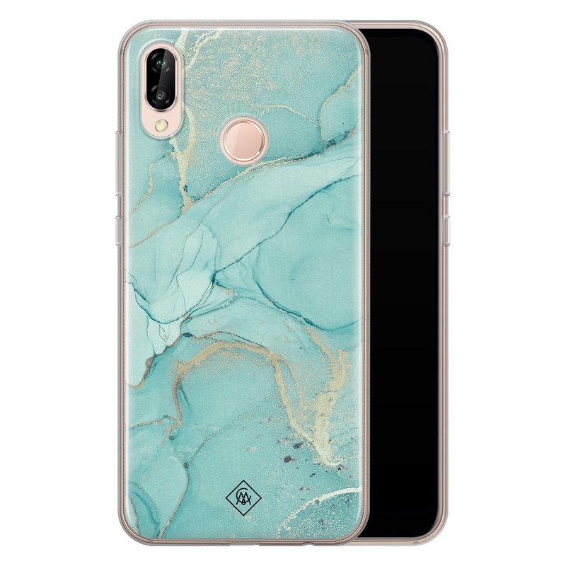 Casimoda Huawei P20 Lite siliconen hoesje - Touch of mint