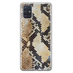 Casimoda Samsung Galaxy A71 siliconen hoesje - Golden snake
