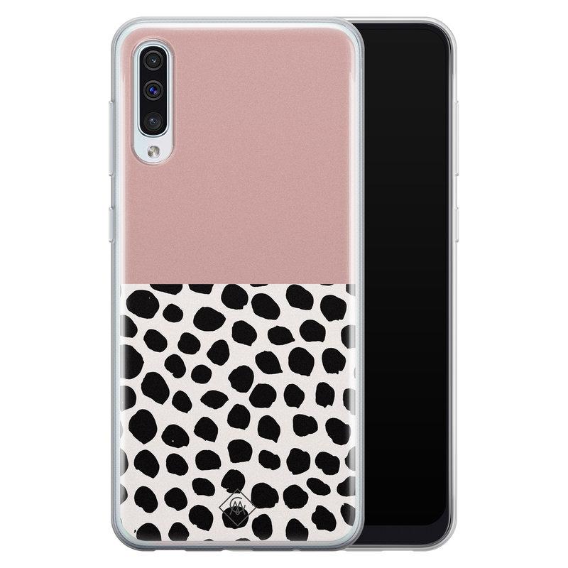 Casimoda Samsung Galaxy A70 siliconen hoesje - Pink dots