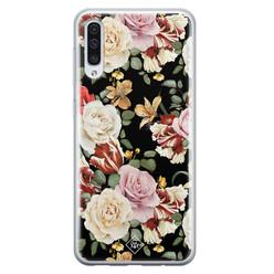 Casimoda Samsung Galaxy A70 siliconen hoesje - Flowerpower