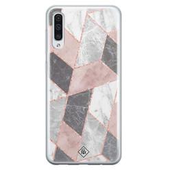 Casimoda Samsung Galaxy A70 siliconen hoesje - Stone grid