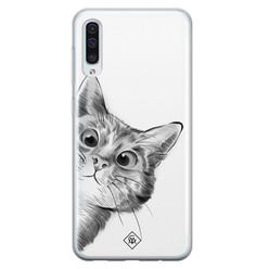 Casimoda Samsung Galaxy A70 siliconen hoesje - Peekaboo