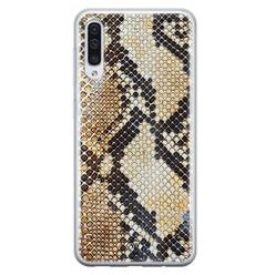 Casimoda Samsung Galaxy A70 siliconen hoesje - Golden snake