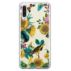 Casimoda Samsung Galaxy A70 siliconen hoesje - Sunflowers