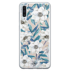 Casimoda Samsung Galaxy A70 siliconen hoesje - Touch of flowers