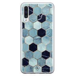 Casimoda Samsung Galaxy A70 siliconen hoesje - Blue cubes