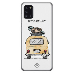 Casimoda Samsung Galaxy A31 siliconen hoesje - Let's get lost