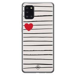 Casimoda Samsung Galaxy A31 siliconen hoesje - Heart queen