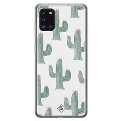 Casimoda Samsung Galaxy A31 siliconen hoesje - Cactus print