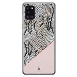 Casimoda Samsung Galaxy A31 siliconen hoesje - Snake print